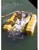 Mesure de tension sur le cordon ombilical de véhicule sous marin