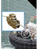Mesure d'effort sur câble d'un bateau remorqueur
