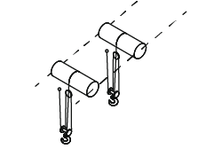 Complex hoisting rails with multiple hoists