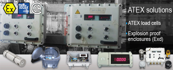 Atex hazardous area weighing intrinsic safety load cells
