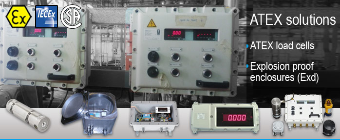 explosion proof enclosure atex load cells