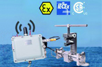 Wireless transmission of force measaurement in hazardous areas