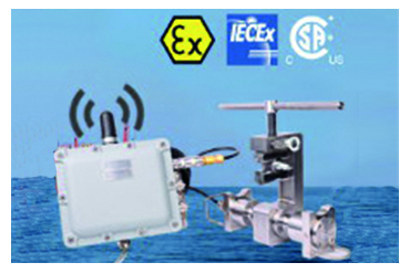 Transmission de mesure de force sans fil en zone ATEX
